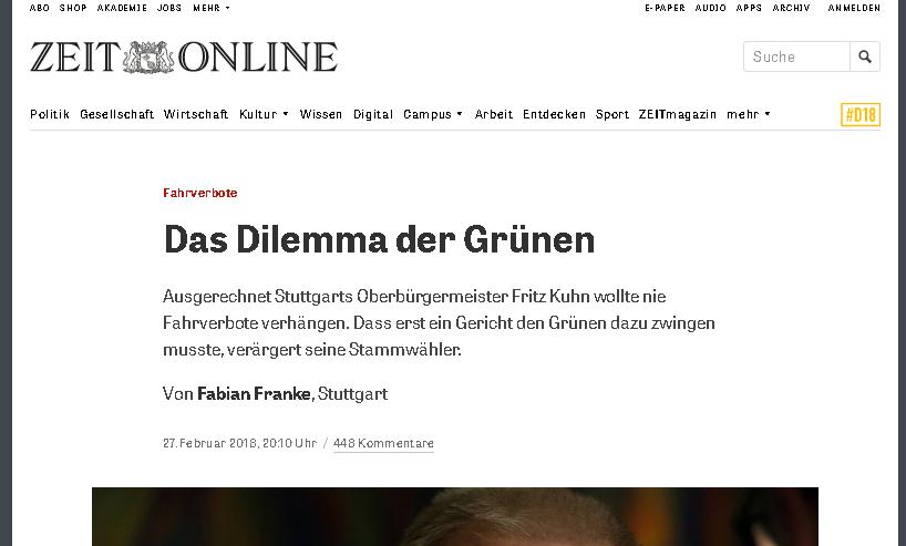 Fabian Franke ZEIT ONLINE Reportage Neckartor Fahrverbot