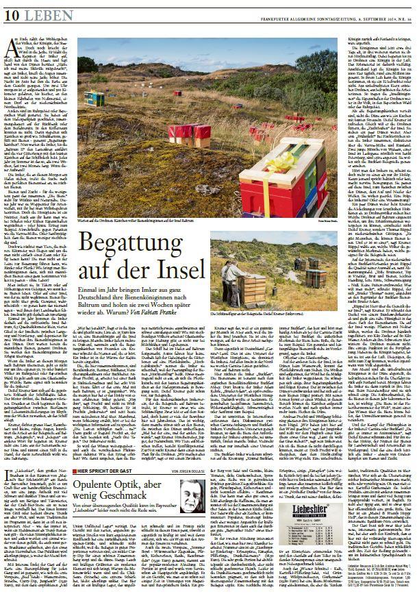 Fabian Franke Journalist Bienen Baltrum Belegstelle Buckfast Frankfurter Allgemeine